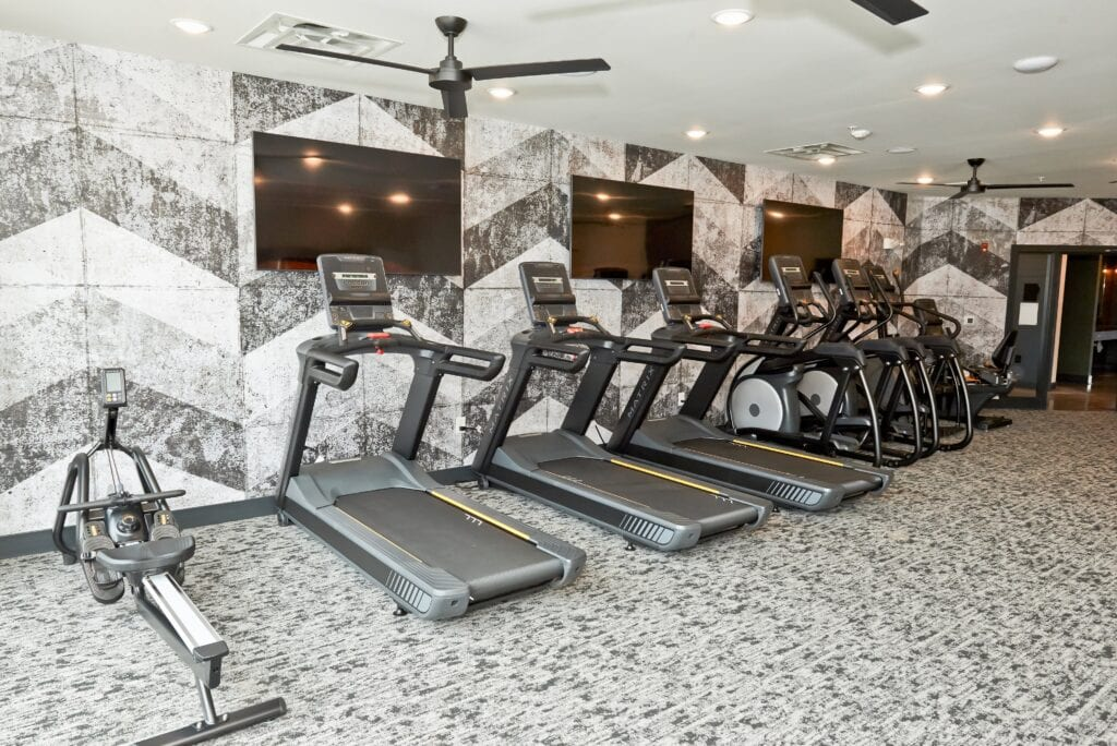 Fitness available apartments